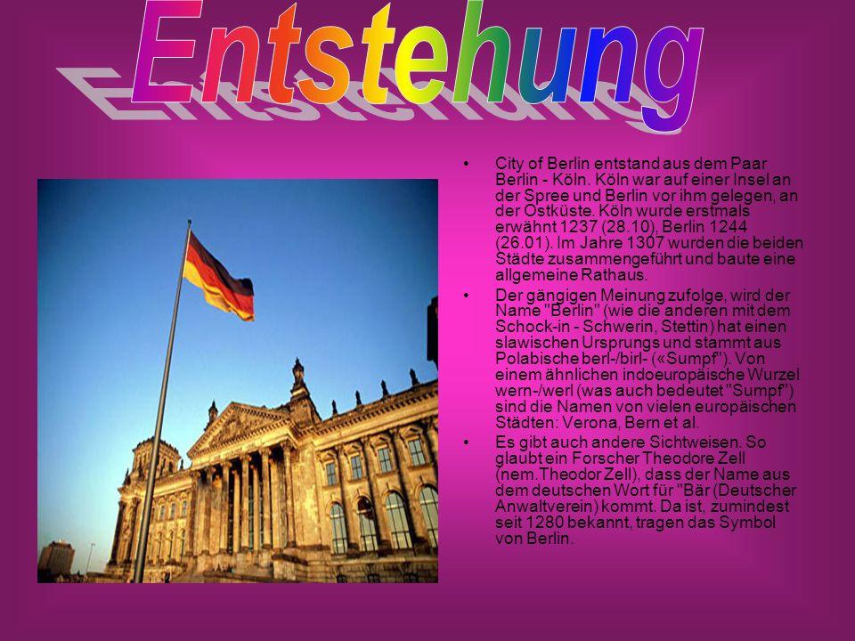 City of Berlin entstand aus dem Paar Berlin - Köln.