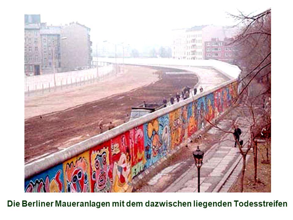 Die Berliner Maueranlagen mit dem dazwischen liegenden Todesstreifen
