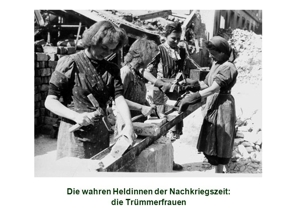 Die wahren Heldinnen der Nachkriegszeit: die Trümmerfrauen