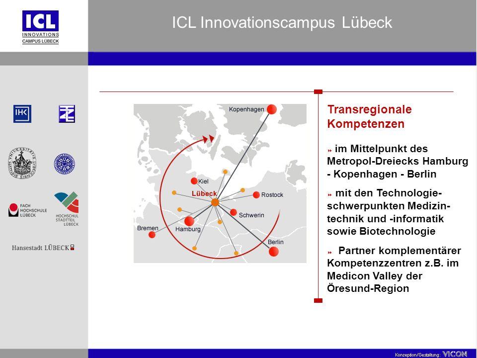 Transregionale Kompetenzen im Mittelpunkt des Metropol-Dreiecks Hamburg - Kopenhagen - Berlin mit den Technologie- schwerpunkten Medizin- technik und