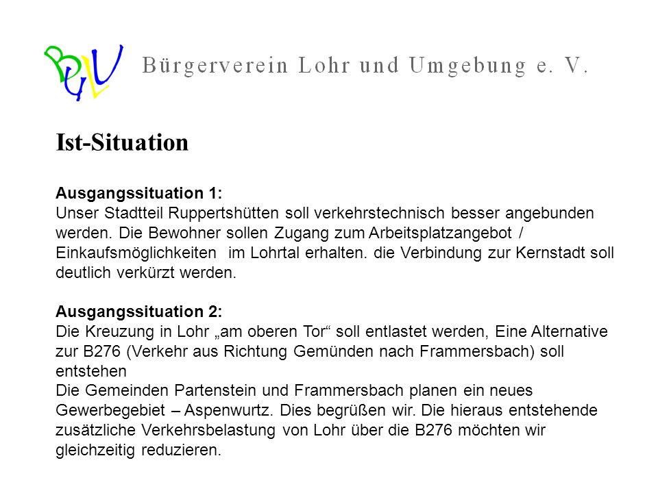Vorschlag des Bürgervereins Lohr und Umgebung e.V.