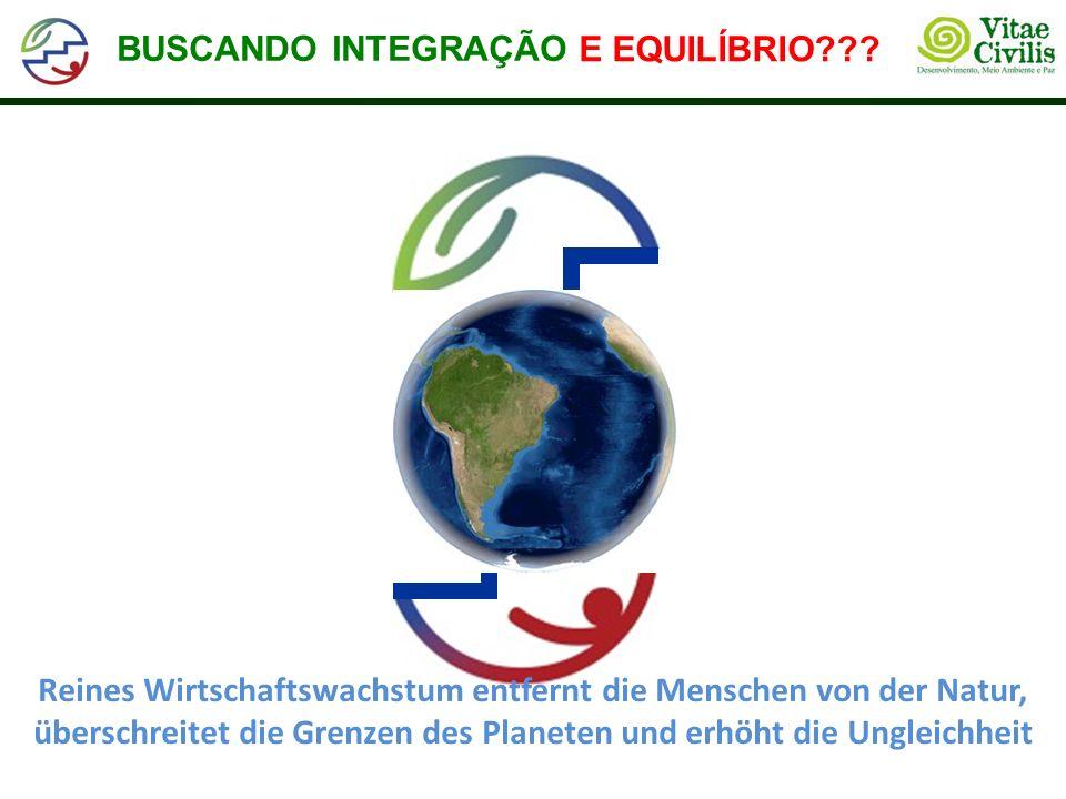 Reines Wirtschaftswachstum entfernt die Menschen von der Natur, überschreitet die Grenzen des Planeten und erhöht die Ungleichheit BUSCANDO INTEGRAÇÃO E EQUILÍBRIO E EQUILÍBRIO???