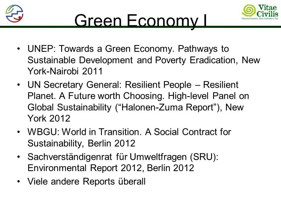 Green Economy I UNEP: Towards a Green Economy.