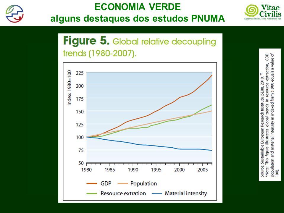 ECONOMIA VERDE alguns destaques dos estudos PNUMA