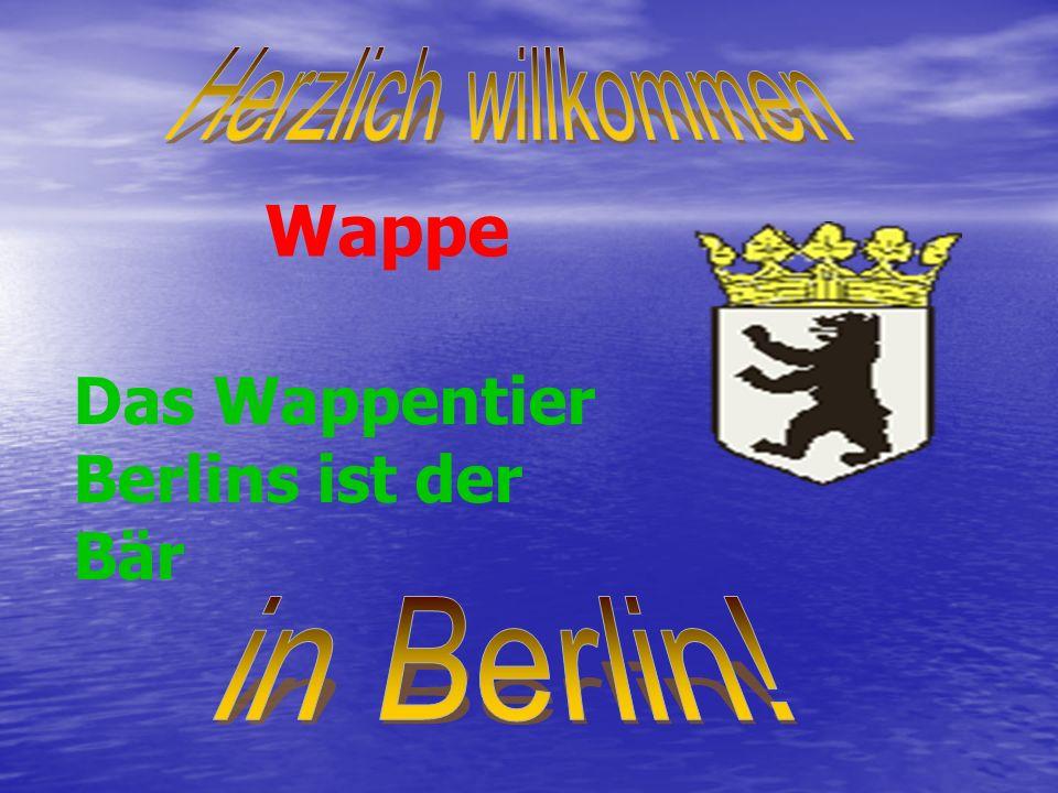 Wappe Das Wappentier Berlins ist der Bär