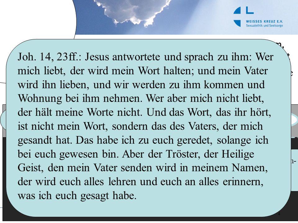 4 Sinn von Ethik IV: Gott schafft sich einen Raum, wo er Menschen begegnet Gott Adam & Eva Noah Jakob (???) Mose ISRAEL Johan nes Jesus Jünge r Urgem