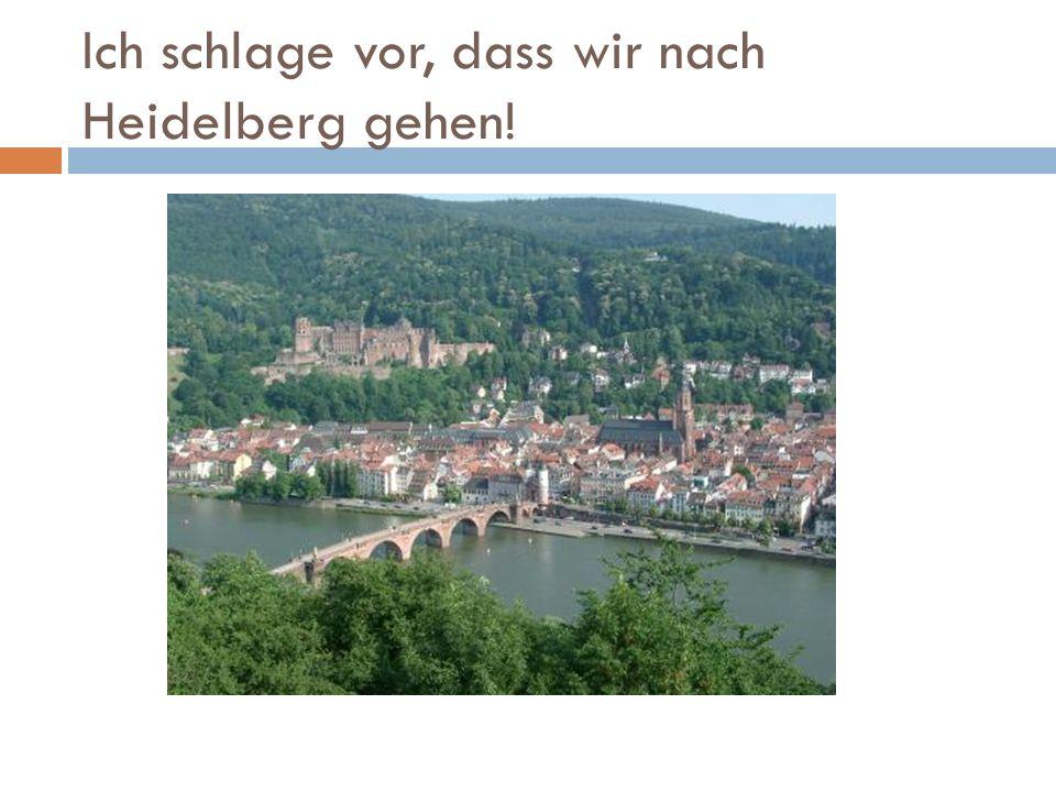 Ich schlage vor, dass wir nach Heidelberg gehen!