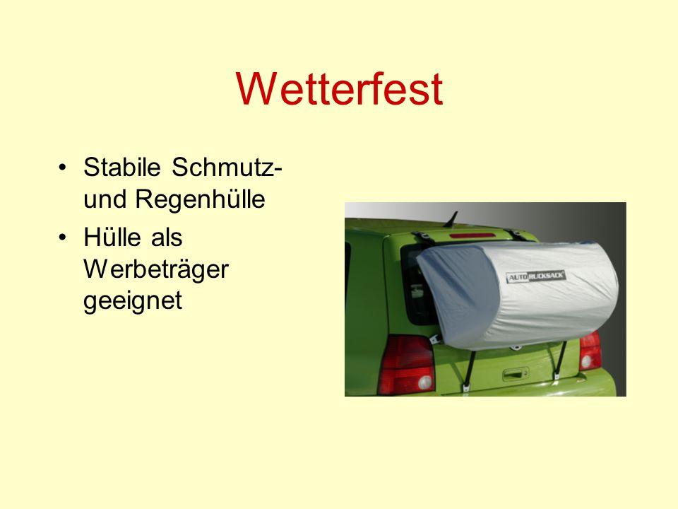 Wetterfest Stabile Schmutz- und Regenhülle Hülle als Werbeträger geeignet