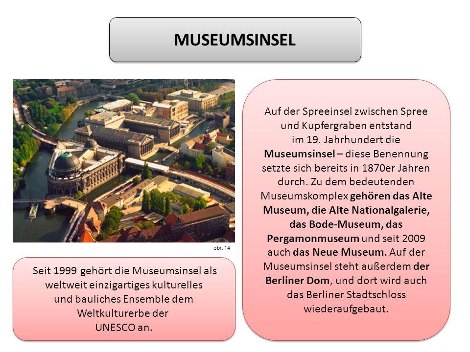 MUSEUMSINSEL Auf der Spreeinsel zwischen Spree und Kupfergraben entstand im 19.