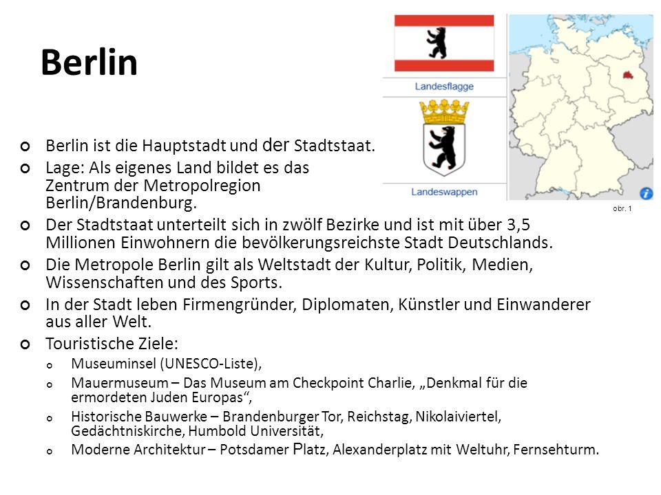 Berlin ist die Hauptstadt und der Stadtstaat.