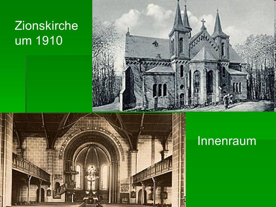 Zionskirche um 1910 Innenraum