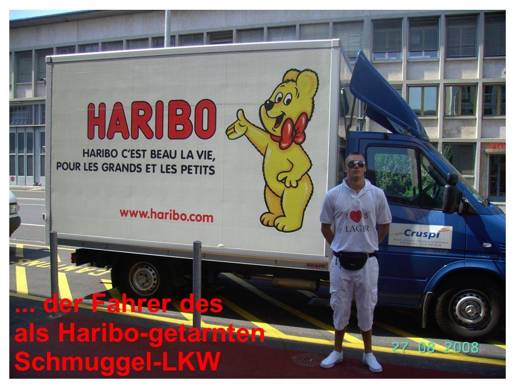 ... der Fahrer des als Haribo-getarnten Schmuggel-LKW