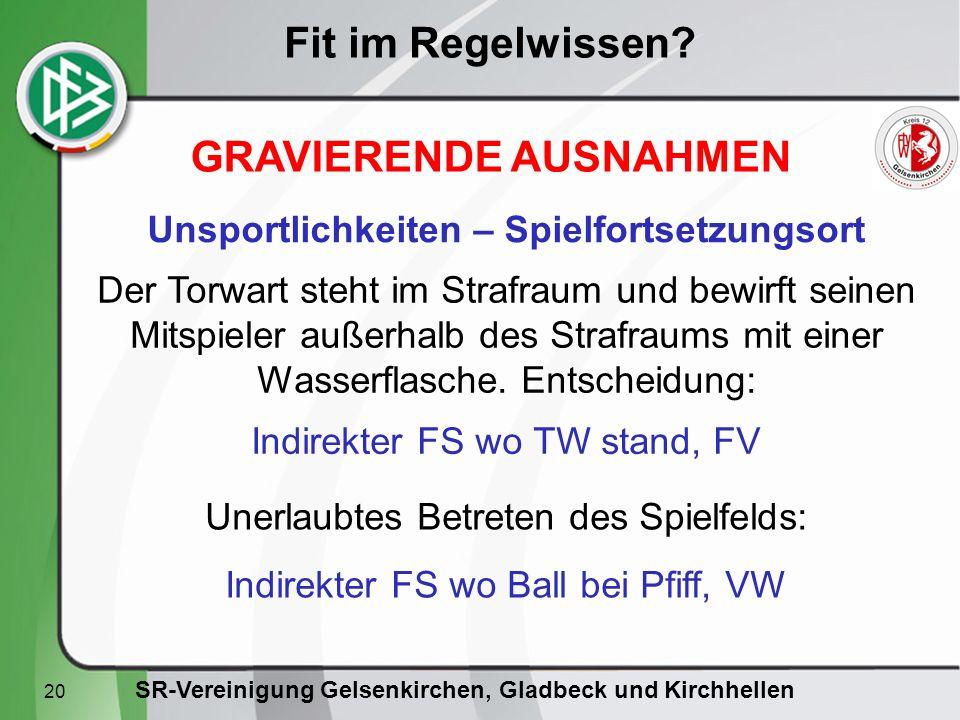 SR-Vereinigung Gelsenkirchen, Gladbeck und Kirchhellen Fit im Regelwissen.