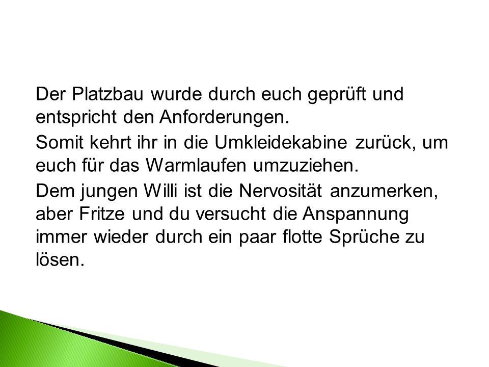 Beim Warmlaufen begegnet ihr dem Spieler Mats Käfer von Langenhagen-Nord.