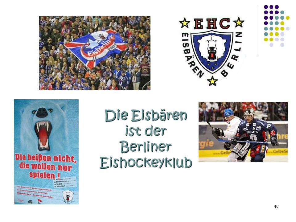 Die Eisbären ist der Berliner Eishockeyklub 46