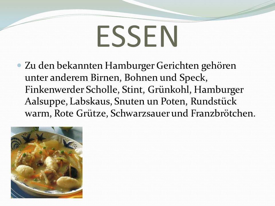 ESSEN Zu den bekannten Hamburger Gerichten gehören unter anderem Birnen, Bohnen und Speck, Finkenwerder Scholle, Stint, Grünkohl, Hamburger Aalsuppe,