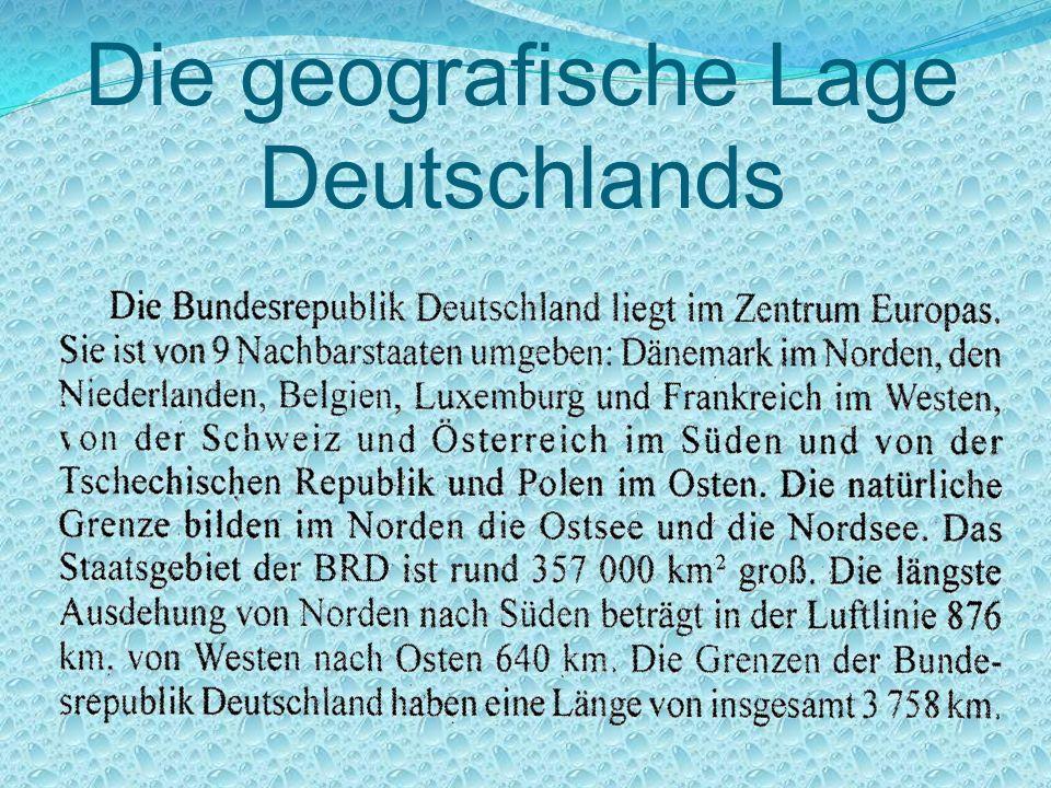 Die geografische Lage Deutschlands