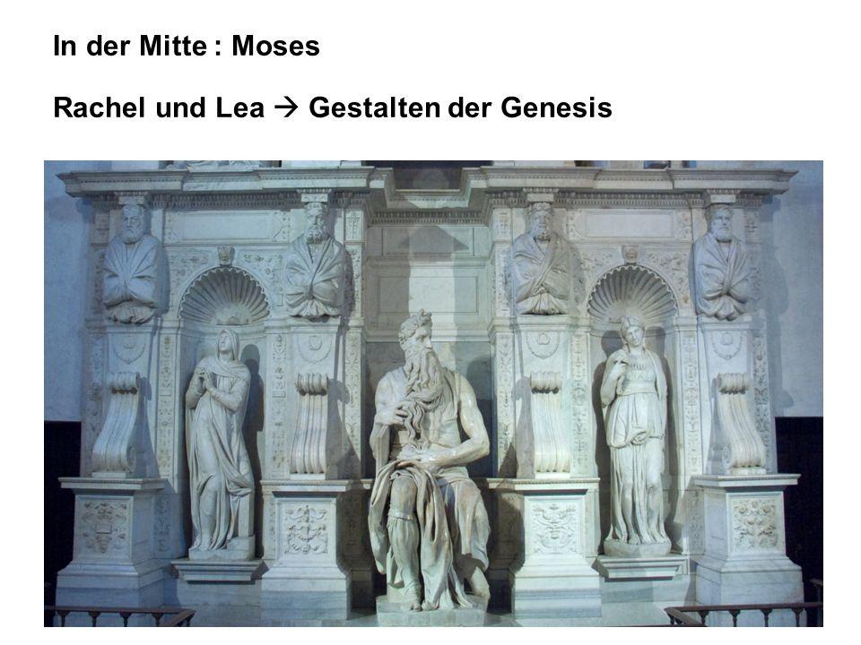 In der Mitte : Moses Rachel und Lea Gestalten der Genesis