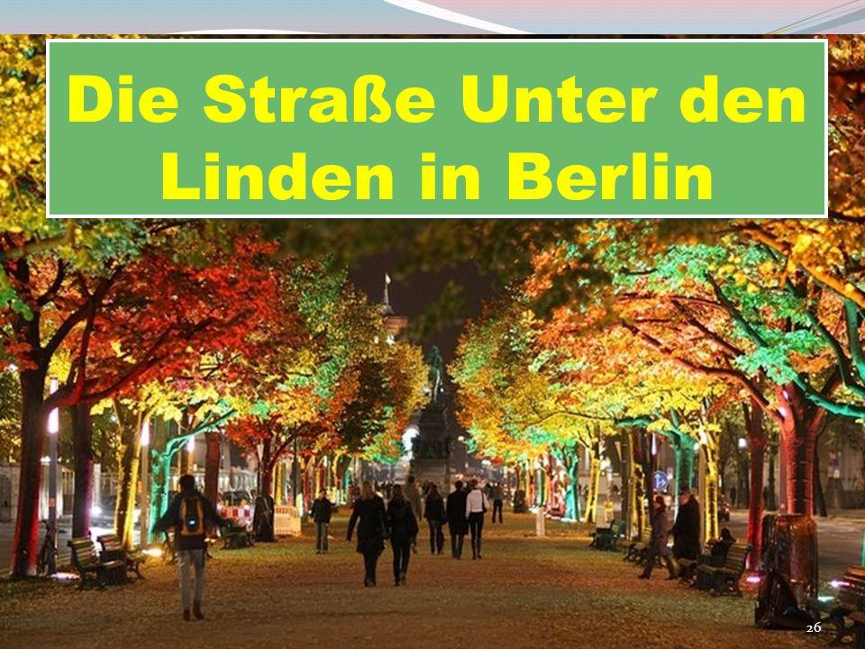 Die Straße Unter den Linden in Berlin 26