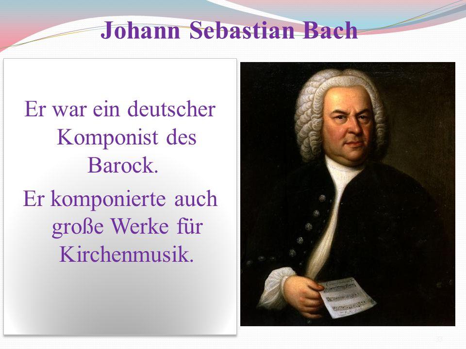 Er war ein deutscher Komponist des Barock. Er komponierte auch große Werke für Kirchenmusik. Er war ein deutscher Komponist des Barock. Er komponierte