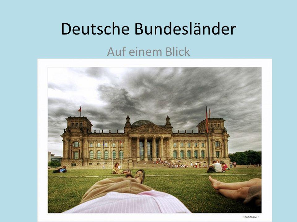 Deutsche Bundesländer Auf einem Blick