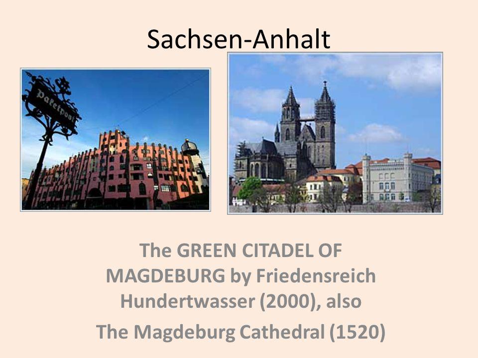 Sachsen-Anhalt The GREEN CITADEL OF MAGDEBURG by Friedensreich Hundertwasser (2000), also The Magdeburg Cathedral (1520)