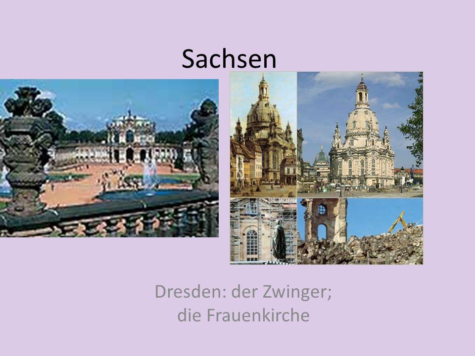 Sachsen Dresden: der Zwinger; die Frauenkirche