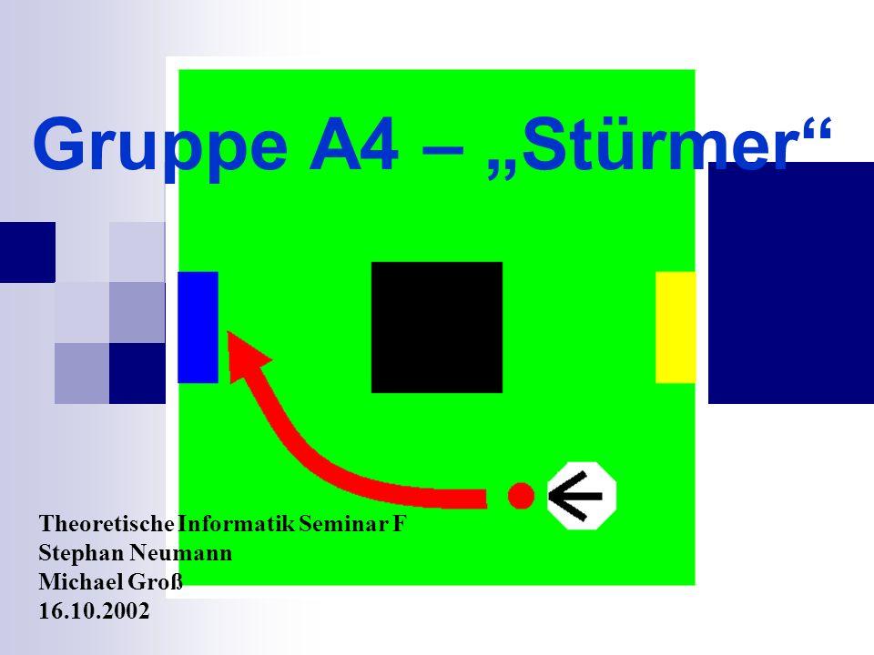 Gruppe A4 – Stürmer Theoretische Informatik Seminar F Stephan Neumann Michael Groß 16.10.2002