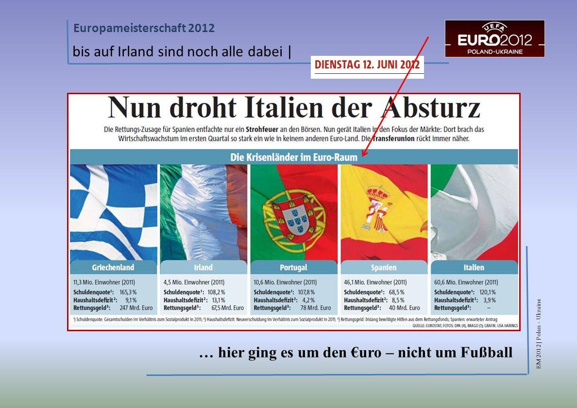 EM 2012 | Polen - Ukraine Europameisterschaft 2012 bis auf Irland sind noch alle dabei | … hier ging es um den uro – nicht um Fußball