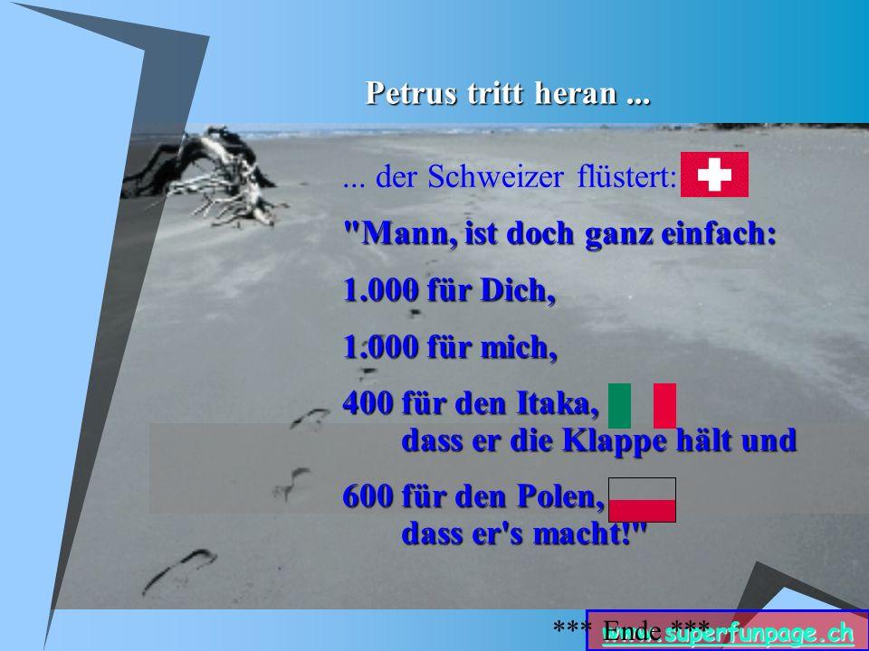 www.superfunpage.ch Petrus tritt heran......