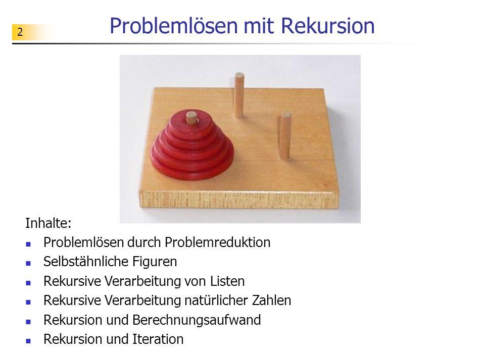 63 Teil 7 Rekursion und Iteration - Umwandlung iterativer Algorithmen in rekursive Algorithmen
