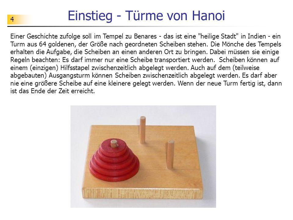 55 Berechnungsaufwand Warum stößt man bei der Berechnung der Ackermann-Funktion sehr schnell auf Grenzen - sowohl hinsichtlich der Rechenzeit als auch hinsichtlich des Speicherbedarfs.