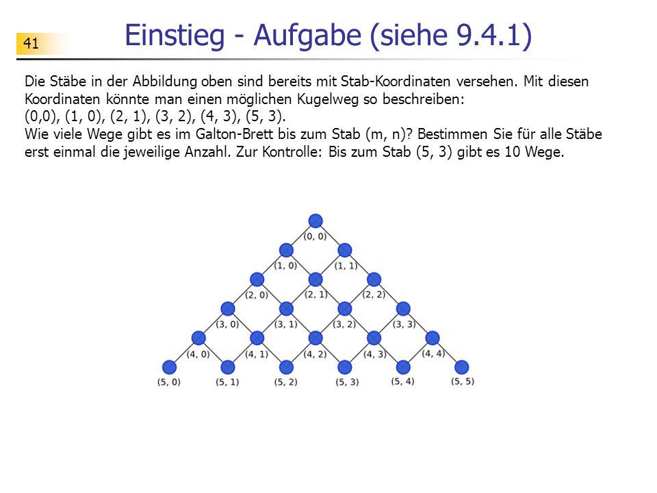 41 Einstieg - Aufgabe (siehe 9.4.1) Die Stäbe in der Abbildung oben sind bereits mit Stab-Koordinaten versehen.