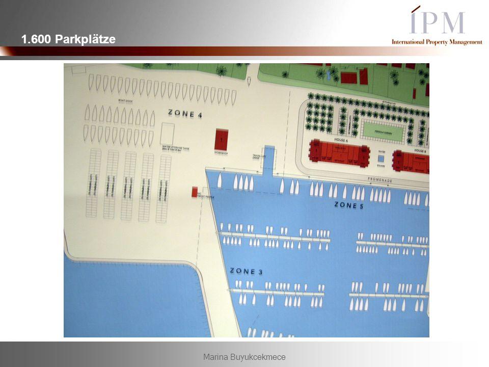 Marina Buyukcekmece 1.600 Parkplätze