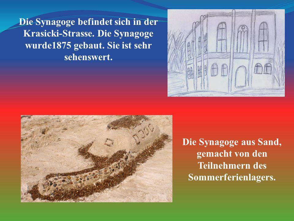 Die Synagoge befindet sich in der Krasicki-Strasse.