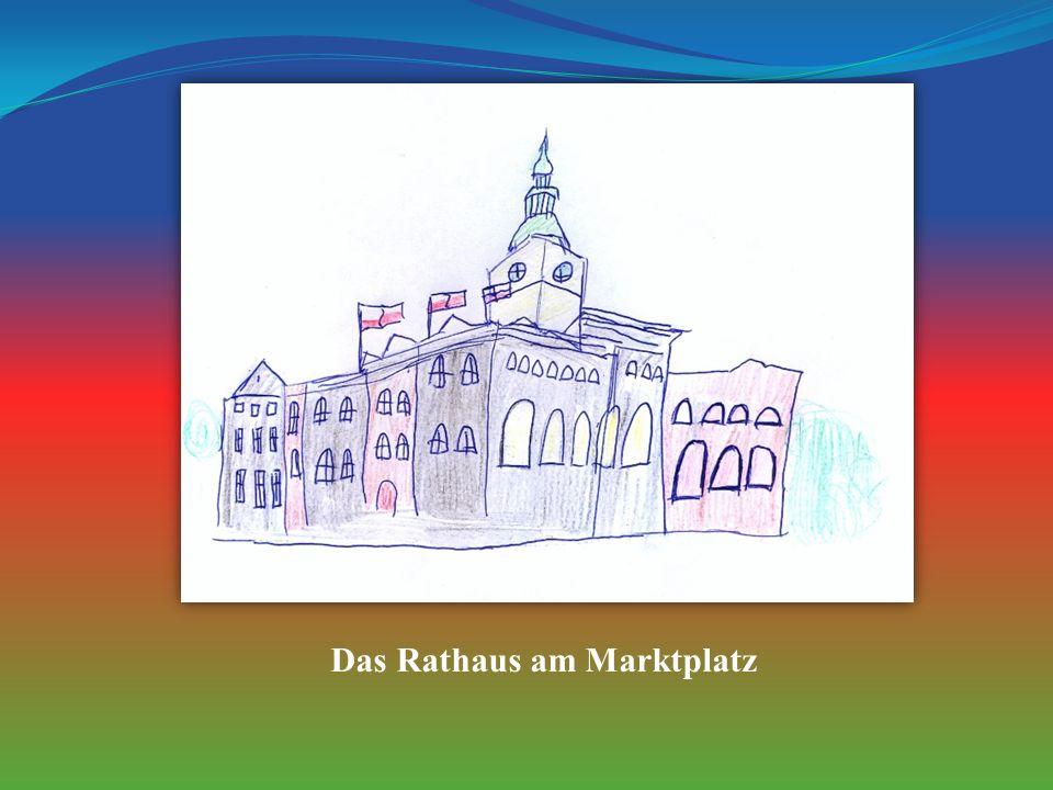 Das Rathaus am Marktplatz
