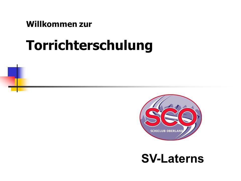 Torrichterschulung Willkommen zur SV-Laterns