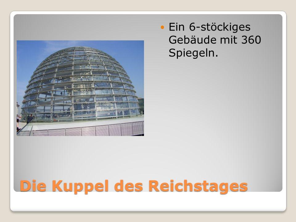 Die Kuppel des Reichstages Ein 6-stöckiges Gebäude mit 360 Spiegeln.