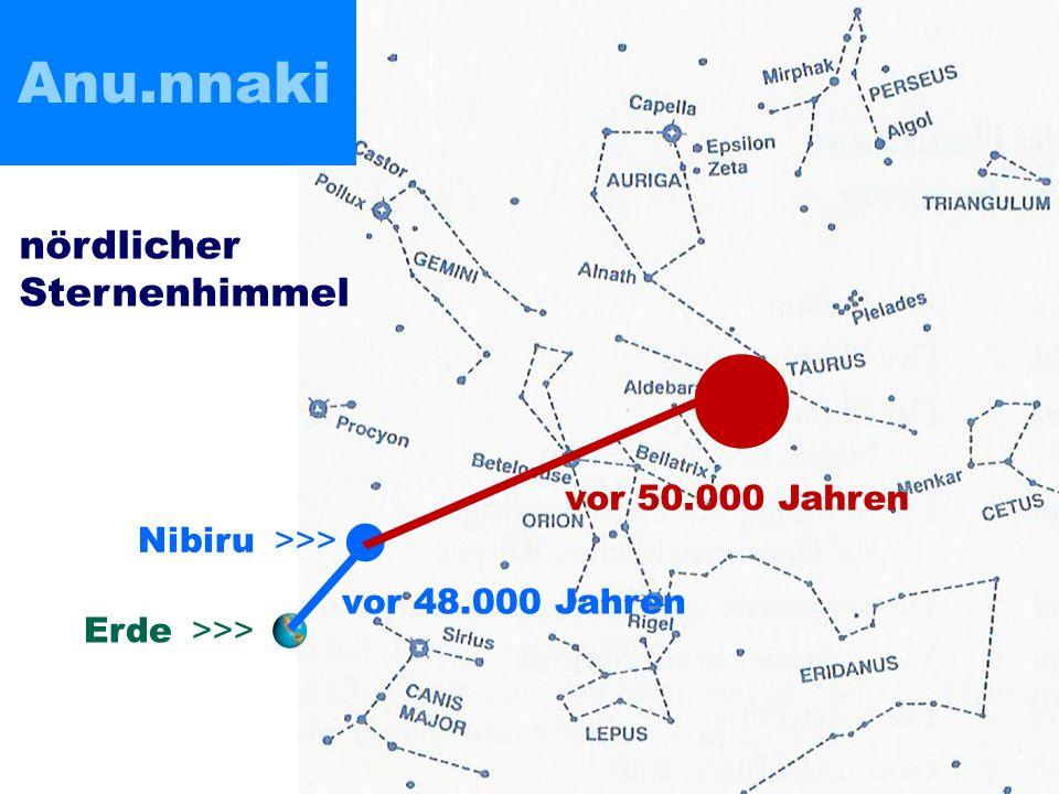 Nibiru >>> Erde >>> vor 50.000 Jahren vor 48.000 Jahren nördlicher Sternenhimmel Anu.nnaki