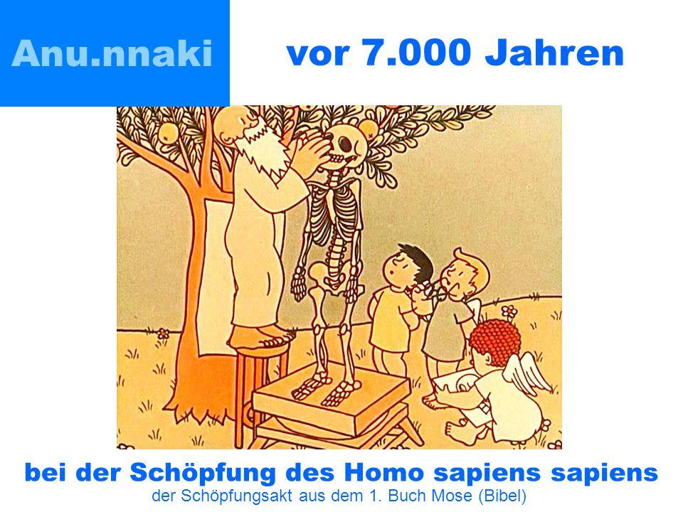 vor 7.000 Jahren Anu.nnaki bei der Schöpfung des Homo sapiens sapiens der Schöpfungsakt aus dem 1.