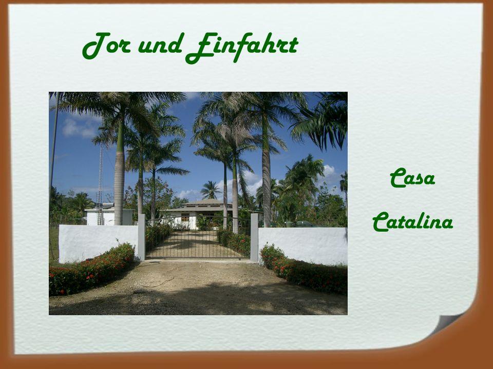 Tor und Einfahrt Casa Catalina