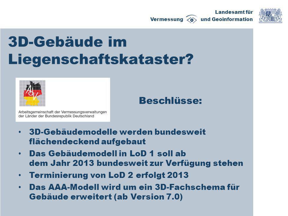Landesamt für Vermessung und Geoinformation Fortführung LoD 1 2.
