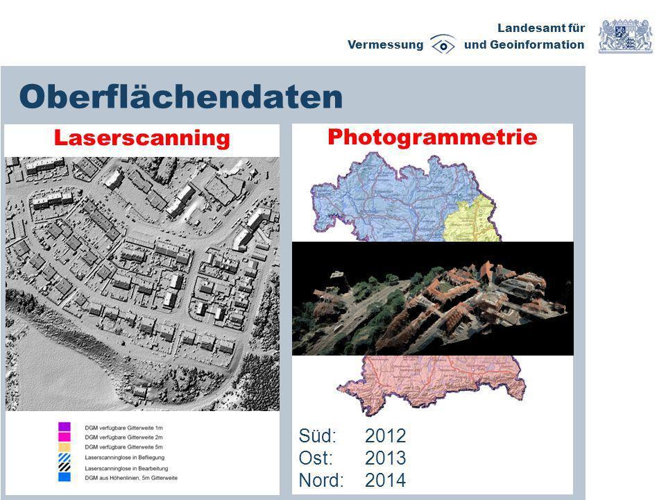 Landesamt für Vermessung und Geoinformation Export LoD 1 XYZ- Punktwolke DGM1 Archiv DOP Archiv LoD 2 CityGML-DB Qualitäts- sicherung LoD 2- Gebäude- ableitung Kachelweise Daten- bereitstellung 1x1km Vorhandene Geobasisdaten LoD 2 Vertrieb