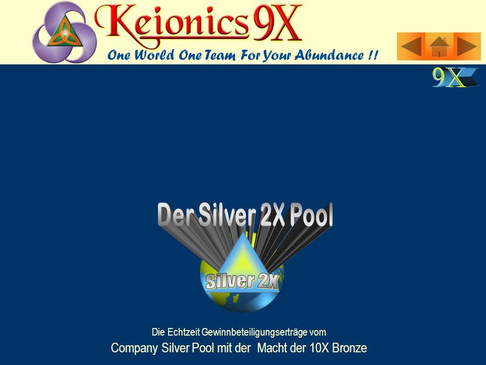 Die Echtzeit Gewinnbeteiligungserträge vom Company Silver Pool mit der Macht der 10X Bronze