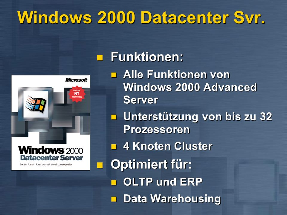 Windows 2000 Datacenter Svr.