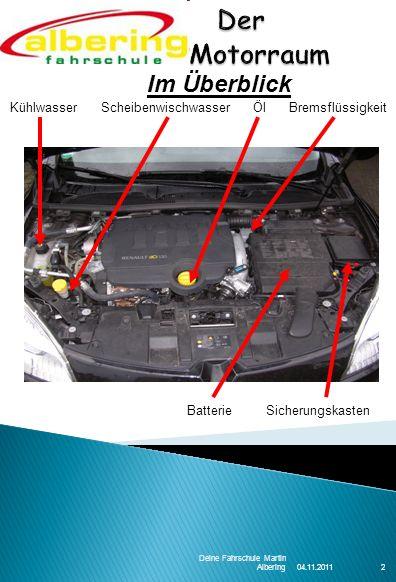 04.11.2011 Deine Fahrschule Martin Albering13 Der Reifen stellt die Verbindung zwischen Fahrbahn und dem Fahrzeug her und wird meist vernachlässigt.