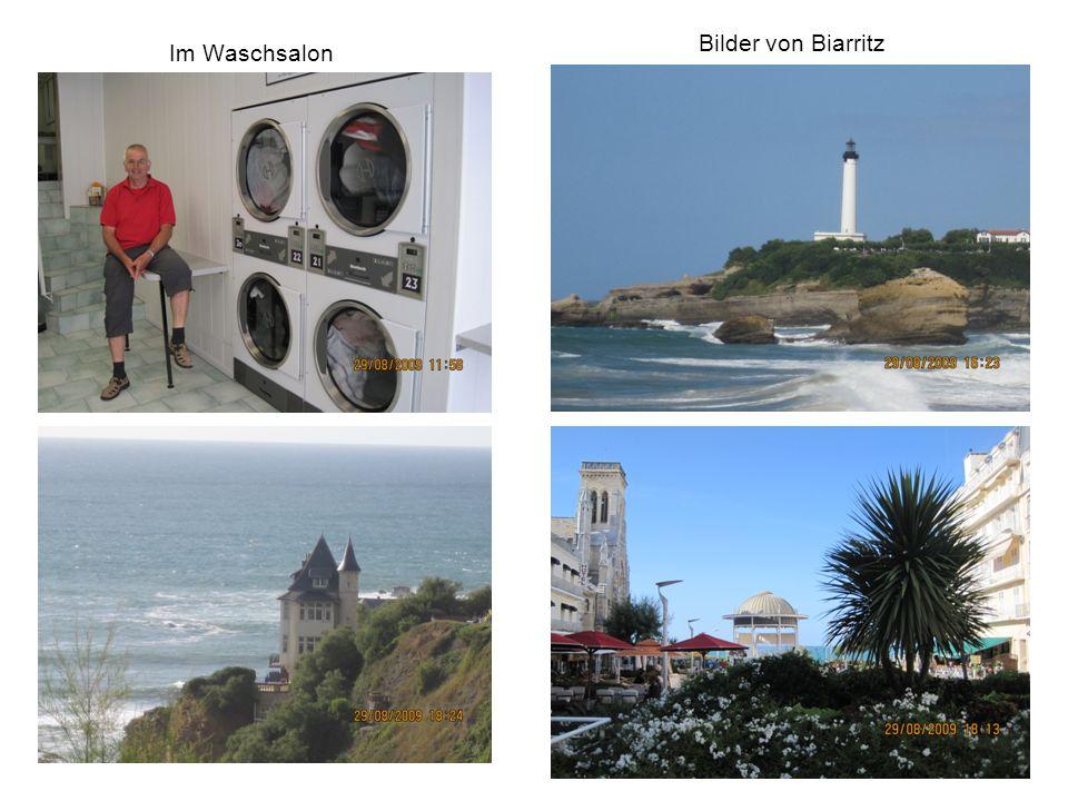 Im Waschsalon Bilder von Biarritz