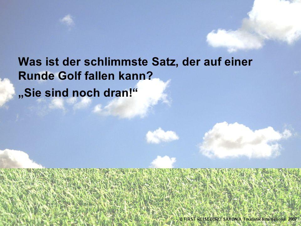 Was ist der schlimmste Satz, der auf einer Runde Golf fallen kann Sie sind noch dran!
