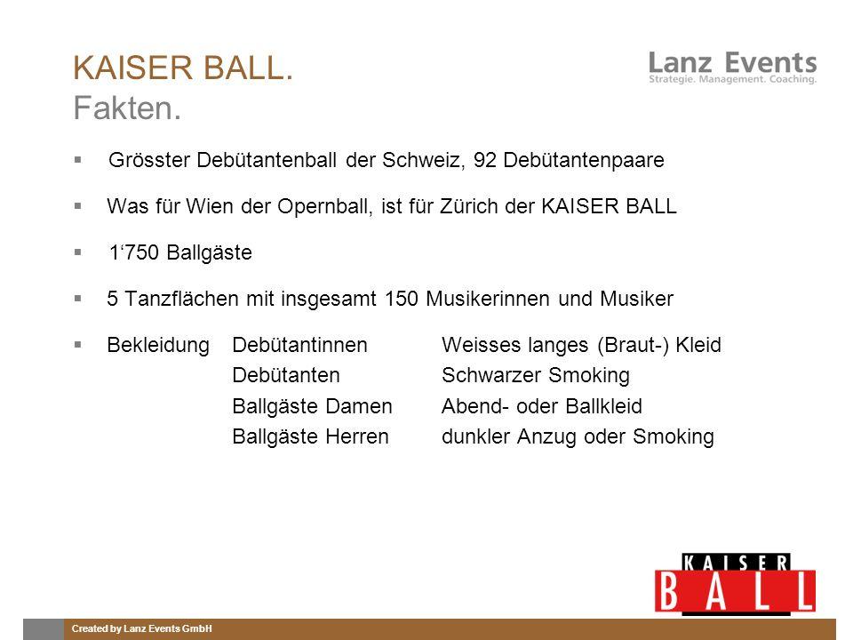 Created by Lanz Events GmbH KAISER BALL.Debütantin.