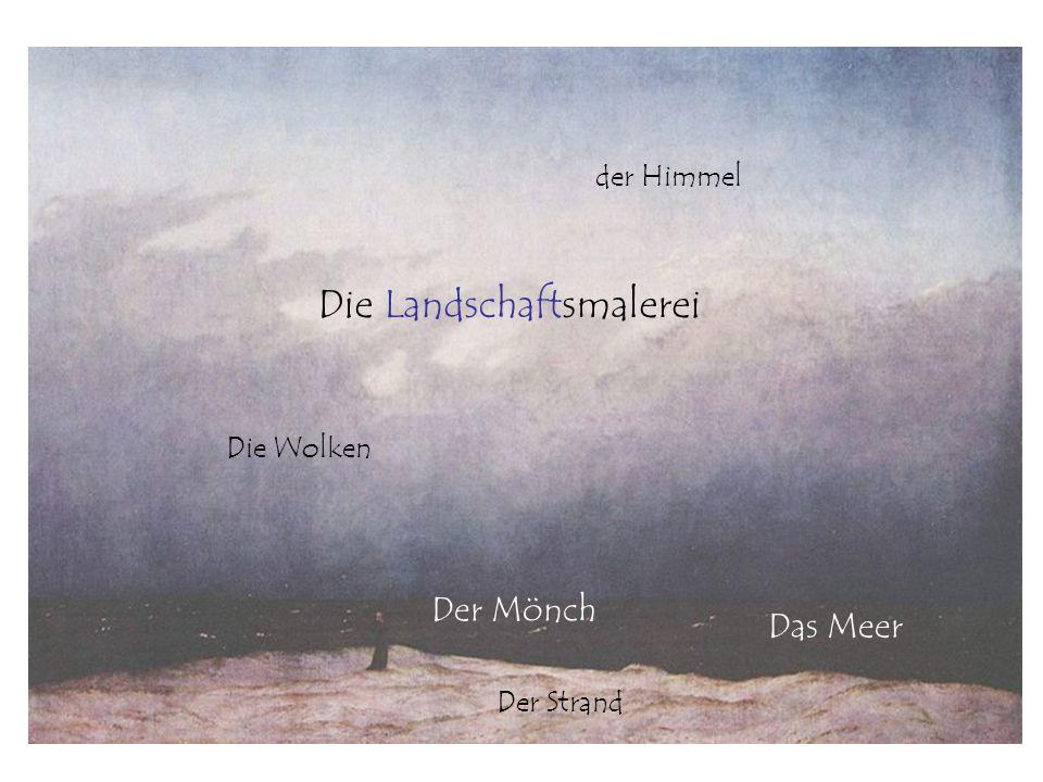 Das Meer Der Strand der Himmel Die Wolken Der Mönch Die Landschaftsmalerei